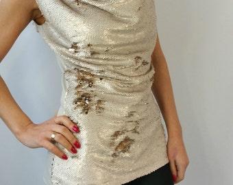 "Unique Sequin Tunic Top, Women sequin Top, Evening Dress – ""SHINE GALORE""- MD10190"