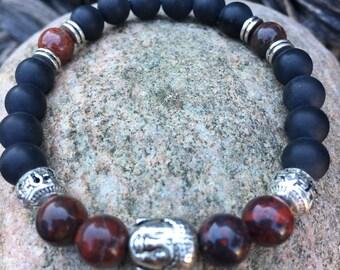 Bracelet boudha, bracelet de yoga, bracelet de méditation, Bracelet en pierre, cadeau