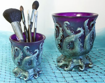OCTOPUS TENTACLE Cup in Purple and Teal DUOCHROME