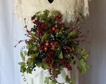 Wild Berry Silk Wedding Bouquet