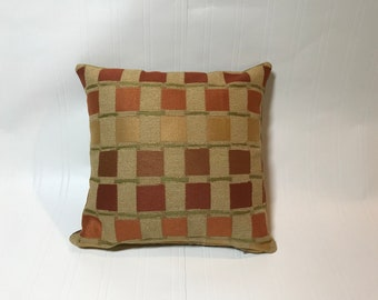 """Pair of Modern Geometric 12"""" Pillow Covers in Copper Metallic"""