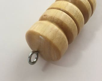 Yellow Cedar Orifice Hook. Handmade, Hand Turned.