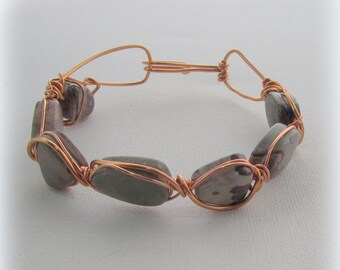 Wire Wrapped Bangle – Picture Pears