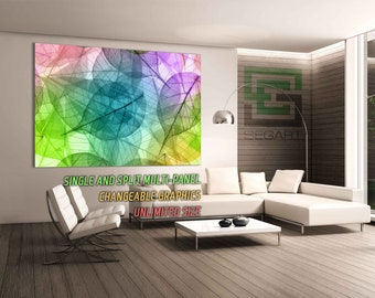 Abstract transparent leaves Office Wall Decor Living Room Decor Art Wall Art Wall Poster Giclee Print Large Canvas Home Wall Decor