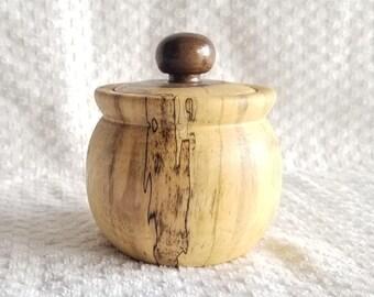 Small Hand Turned Black Walnut Stash Jar - walter21