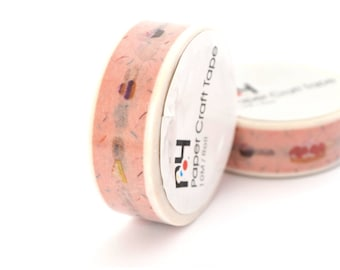 10 m Washi tape pastries pink 15mm