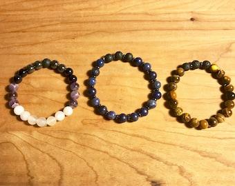 Custom stack of 3 diffuser bracelets
