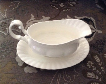 Royal Albert gravy boat and saucer