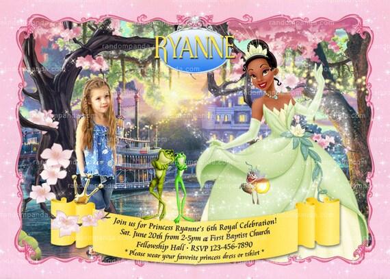 Princess Tiana Birthday Invitation