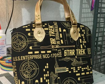 Original Star Trek Domed Handbag, Gold Vinyl (Swoon Lola)