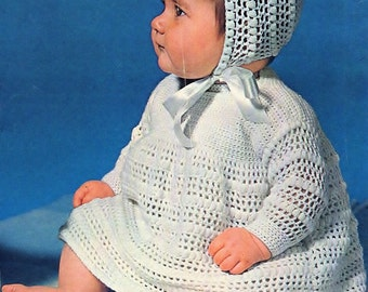 Baby Angel Top And Bonnet, Crochet Pattern. PDF Instant Download.