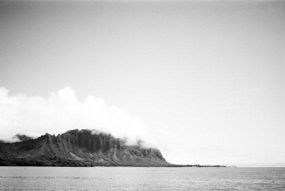 View of Ko'olau Mountains from Kaneohe Bay, Oahu