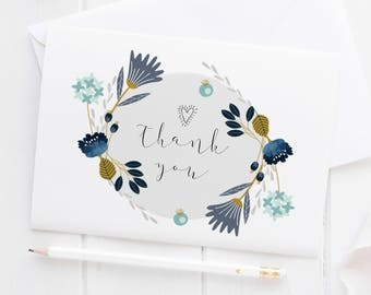 Thank You Card Set 4, 8, 12, 24