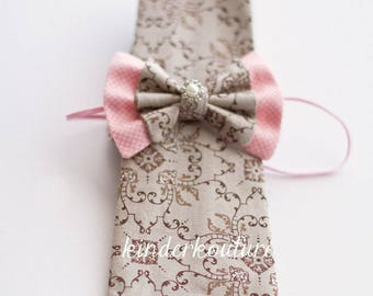 Boys bowtie and necktie