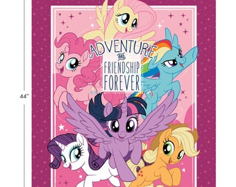My Little Pony Fabric Panel MLP Fabric Adventure & Friendship From Camelot 100% Cotton