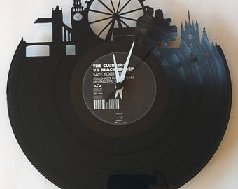 Vinyl Record Clock (London)