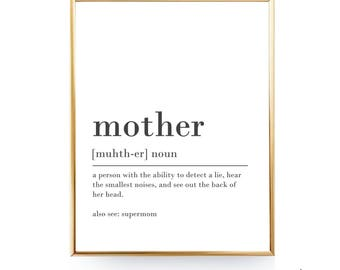 Mother Definition Print Mothers Day Gift For Mom Printable Definition Of Mothers Day Present Mother Gift Mother Printable INSTANT DOWNLOAD