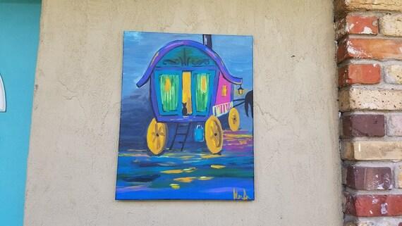 Impressionistic Gypsy Wagon