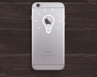Lightbulb Vinyl iPhone Decal BAS-0220