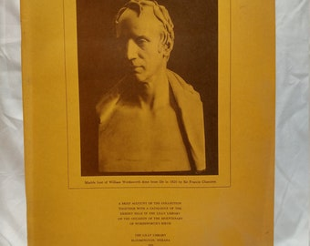 Antique Book - The Indiana Wordsworth Collection by the Lilly Library (1970)