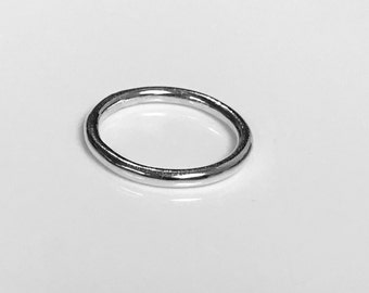 Contemporary Sterling Silver Round Halo Ring