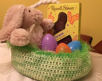 Green Easter basket - other items are not included