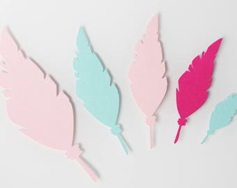 paper 210 gr - scrapbooking, various decorations 15 feathers