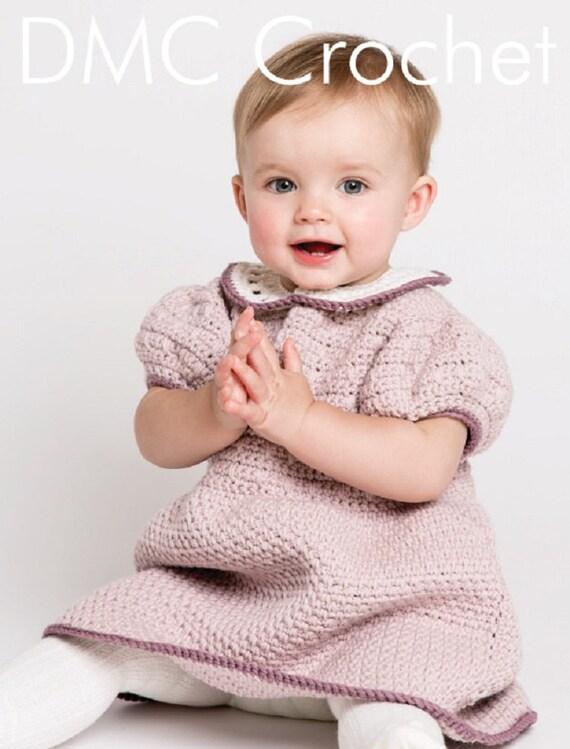 Rosie Ruche Mädchen Kleid häkeln Muster nur Woolly5 Garn