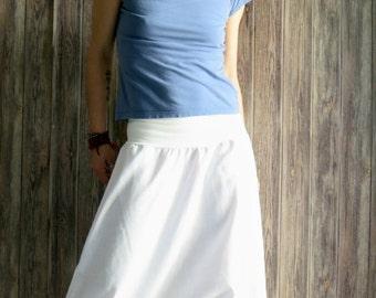 White linen pants for women, linen harem pants, yoga pants, white pants, drop crotch pants, yoga clothing, yoga wear, linen pants,