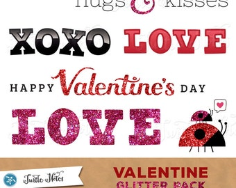 78 Valentine Clipart Phrases : Digital Overlay Clipart Graphics