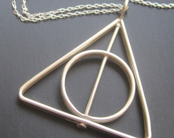 Spinning Triangle Necklace
