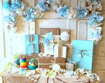 Burlap And Blue Baby Shower ...