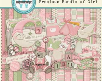 Digital Scrapbook Precious Bundle of Girl Kit