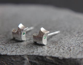 Fox Stud earrings made of 925 sterling silver also for children