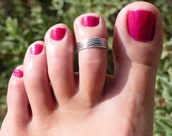 silver ring for woman, silver toe ring, toe ring for woman, toe ring, adjustable ring, adjustable toe ring, boho ring, anillo para el pie