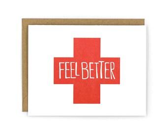 Feel Better Letterpress Card