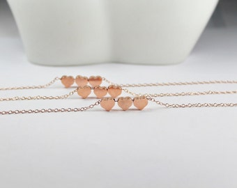 Three hearts bracelet. three best friends,three bridesmaids, three 3 sisters gift. set of three. three bridemaids bracelets. wedding jewelry
