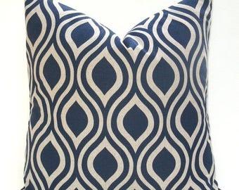 15% Off Sale Decorative Pillows - Blue Pillow - Blue Tan Pillow Cover - Pillow Covers - Throw Pillow Covers - Blue Pillow Case - 16x16 pillo