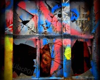 Graffiti Print, Punched, Fine Art Photograph on Metallic Paper