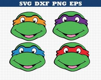 Ninja Turtles SVG, Ninja Turtles Birthday shirt, Ninja Turtle decals, svg bundle, Turtle Silhouette, Ninja Turtle cricut file