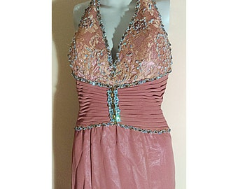 Women's Dresses, Prom Dresses, Evening Dress, Sequined Dresses, Size 6 By Riva Designs Fit Xtra small