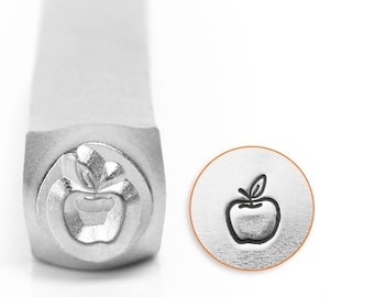Apple Metal Design Stamp ImpressArt- 6mm Design Stamp-Steel Stamps-NEW!