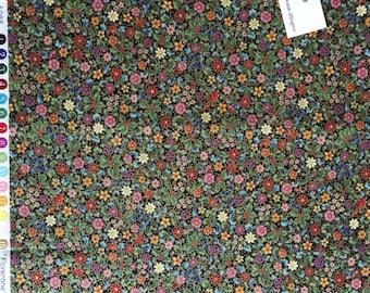Kaufman Florentine Tiny Floral Print Fabric, Tiny Floral Print Fabric, Oriental Floral Fabric, Oriental Fabric, HALF Yard Fabric