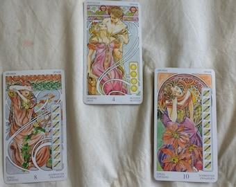 Three Card Reading, Art Nouveau Deck