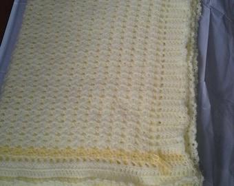 Pastel Yellow Baby Blanket