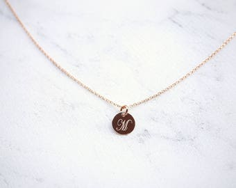 Chain initial platelets – 925 silver/Rosé