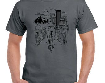 Bike Ride Mens Funny Cycling T-Shirt Bicycle Mountain MBT Road 2420