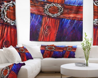 Designart Crown of Thorns Abstract Wall Tapestry, Wall Art Fit for Wall Hanging, Dorm, Home Decor