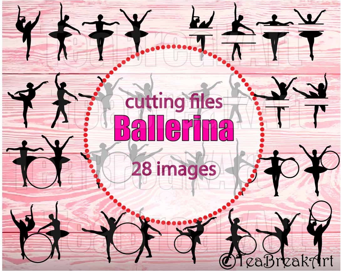 Marco de círculo de ballet cortar archivos SVG JPG dxf png clipart ...