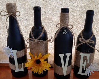 Love Is In The Air Wine Bottles